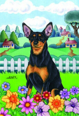 Garden Indoor/Outdoor Spring Flag (TP) - Miniature Pinscher Min Pin 730841