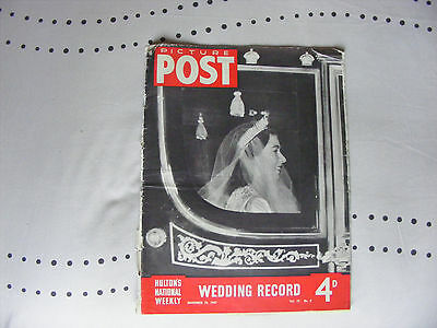 VINTAGE 1947 PICTURE POST MAGAZINE. Vol.37. No9. WEDDING RECORD. (11811)
