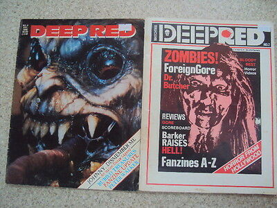 Deep Red Issues 2 & 5 Horror Magazines 1988