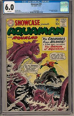 Showcase #30 CGC 6.0 (W) 1st Aquaman Tryout Issue
