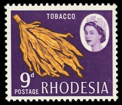 "RHODESIA 228 (SG379) - Tobacco Leaves ""1966 Photogravure"" (pa33545)"