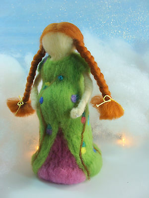 OOAK Handmad Needle Felted Expectant Mother Doll Sculpture