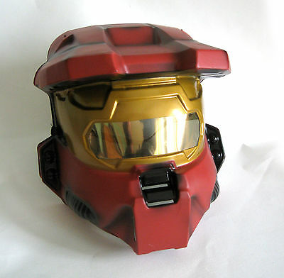 Red Spartan Halo Mask Mens Adult Halloween Costume Accessory