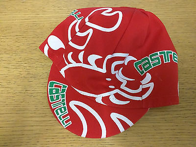 CASTELLI RETRO STYLE CYCLING TEAM BIKE CAP - MADE IN ITALY - Red