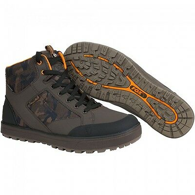 Fox NEW Chunk Camo Mid Boots All Weather Waterproof Fishing Shoes *All Sizes*