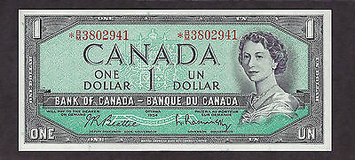 Canada 1954 1 Dollar Star Note Prx B/m Replacement - 2941