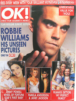 ROBBIE WILLIAMS MAGAZINE OK! His Unseen Picture -COVER Pic. + 5 Pages