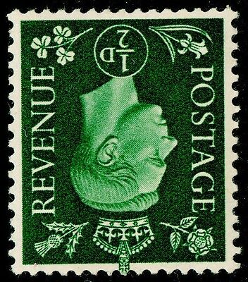 Sg462Wi, ½d green, UNMOUNTED MINT. WMK INVERTED. Cat £10.
