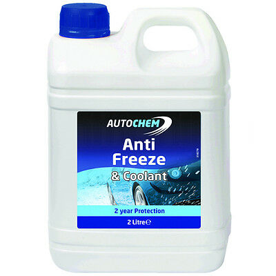 AutoChem 2 Year Protection Car AntiFreeze and Summer Coolant Blue 2 Litre