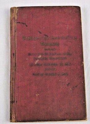 Antique 1923 Seaboard Air Line Railway Co Rules & Regulations Book Signed Dated