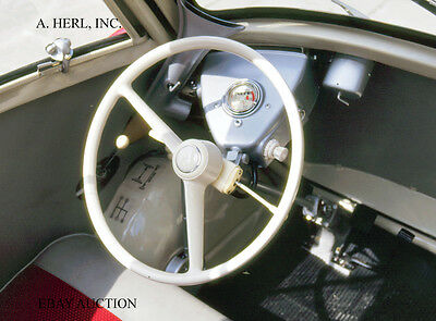 BMW Isetta cockpit and seating area – 1955 BMW publicity campaign – photograph