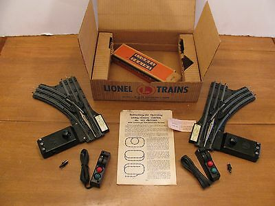 1950s Lionel Trains O Gauge Remote Control Right & Left #O22 Switches EX