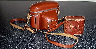 Rare German BRAUN PAXETTE CAMERA in leather case - Tessar f50 mm Carl Zeiss lens