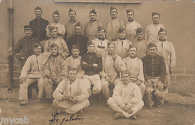 Postcard French Military group in overalls Franch army RP by Perboyre