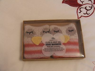 New Click & Heat Gel Hand Warmers - Made With Lambswool