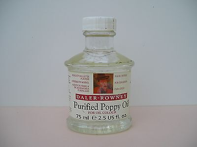 Purefied Poppy Oil Unopened Bottle 75ml  DALER ROWNEY Artists Painting Medium