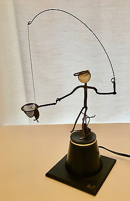 VTG Kinetico Metal Moving Sculpture Gordon Bradt Fisherman Kinetic MCM WORKS 70s