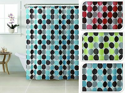 12 Hole Plastic PEVA Shower Curtain Bath Cover Water Splash Proof 12 Hook Rings
