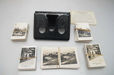 Vintage Camerascope + Army Club Cigarette Peep Cards Collection