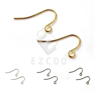 140pcs Iron Hook Ear Wires DIY Crafts Earring Making 21x13x0.7mm Wholesale