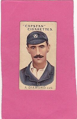 WILLS.( AUSTRALIA) SCARCE PROMINENT AUST.& ENG.CRICKETERS.No.25.CAT£14. ISS 1907