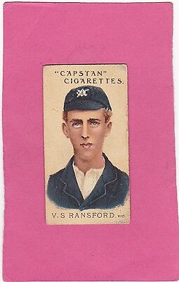 WILLS.( AUSTRALIA) SCARCE PROMINENT AUST.& ENG.CRICKETERS.No.27.CAT£14. ISS 1907