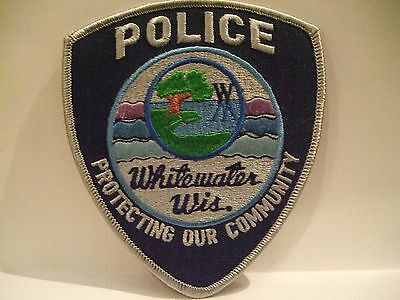 police patch   WHITEWATER POLICE WISCONSIN