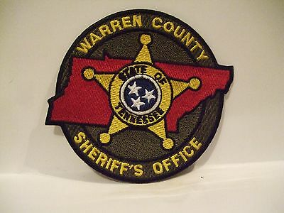 police patch    WARREN COUNTY SHERIFF TENNESSEE
