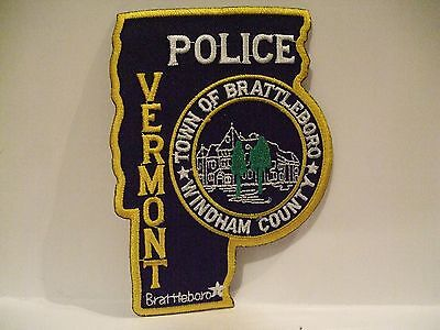 police patch    TOWN OF BRATTLEBORO POLICE VERMONT