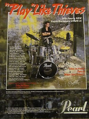 INXS, Jon Farris, Pearl Drums, Full Page Vintage Promotional Print Ad