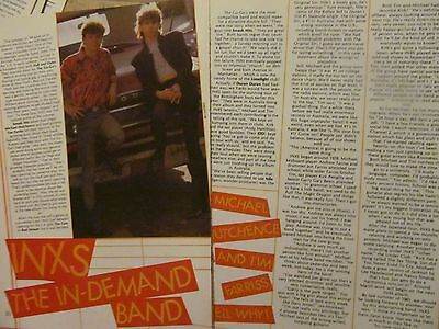 INXS, Two Page Vintage Clipping