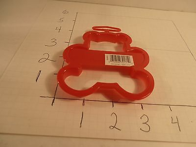 1993 Wilton Teddy Bear Cookie Cutter Christmas Gift Animal Red Plastic