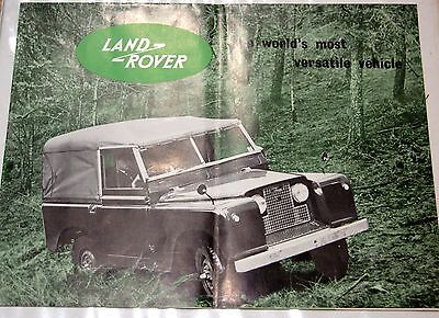 RARE Land Rover Series 2 (not 2a) Fold Out Sales Brochure 573 c.1960