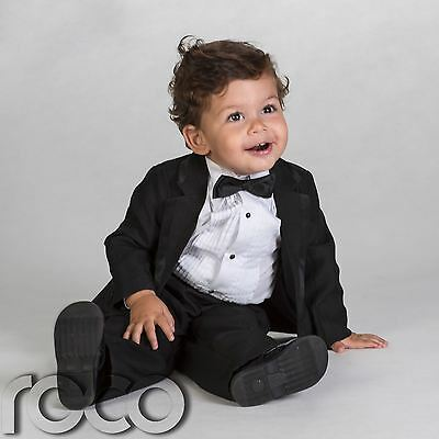 Baby Boys Black Tuxedo, Baby Boys Black Page Boy Outfit