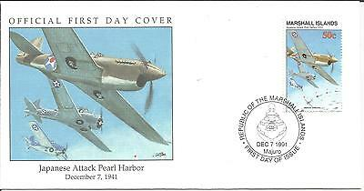 Arcade 99p A Nice Marshall Is 1991 Japanese Attack Pearl Harbor 1941 FDC
