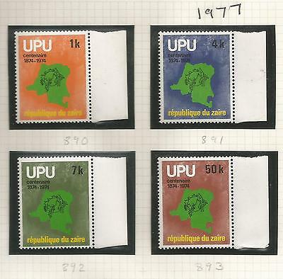 Congo Zaire Stamps SG 890-93 1977 UPU MINT Never Hinged (k331)