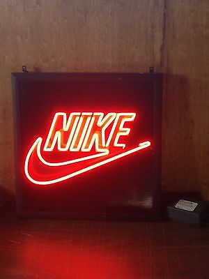 Nike Shoe Logo Store Display Vintage 1990's Neon Light - Promotional Air Jordan