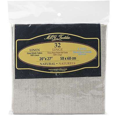 Linen 32 Count 20 Inch X 27 Inch-Natural 716448322764