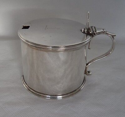 Extra Large 175 Gram Victorian 1845 London Sterling / Solid Silver Mustard Pot