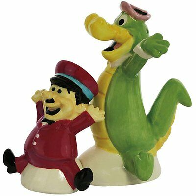Wally Gator & Mr Twiddle Ceramic Magnetic Salt & Pepper Shakers - Hanna Barbera