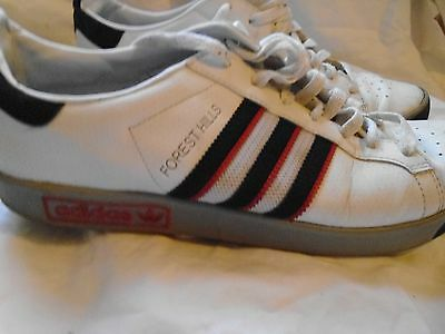 mens ADIDAS Forrest Hills Trainers - White Leather - UK 9.5