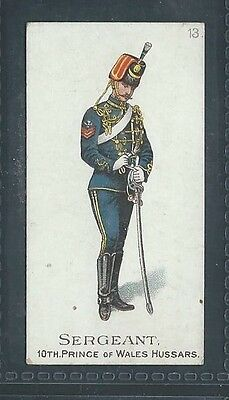 Gallaher Types Of The British Army Three Pipes Brown No 13 Sergeant 10Th Hussars