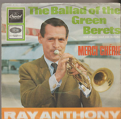 Ray Anthony - The Ballad of the Green Berets / Mercie Cherie. Single 1966