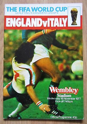 England v Italy - World Cup Qualifier - 1977