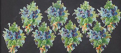 S308 Victorian Die Cut Scraps: 8 Bunches of Violets