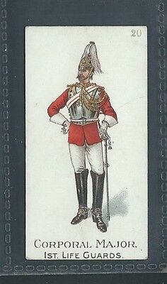 Gallaher Types Of The British Army Three Pipes Brown No 20 Major 1St Life Guards