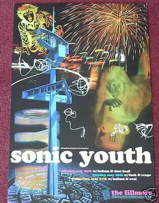 SONIC YOUTH FILLMORE POSTER F330 Rex Ray