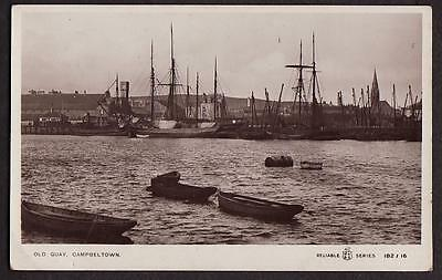 REAL PHOTO POSTCARD CAMBELTOWN OLD QUAY KINTYRE ARGYLL & BUTE SCOTLAND c1915