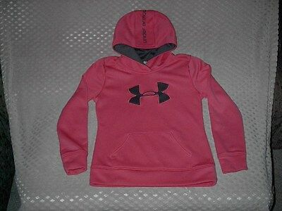 UNDER ARMOUR Hooded Sweatshirt Youth Girl's Size Large Loose