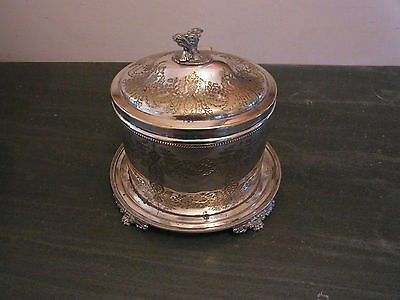 Silver Plated Victorian Biscuit Barrel Silver Plated Biscuit Jar - Cookie Jar